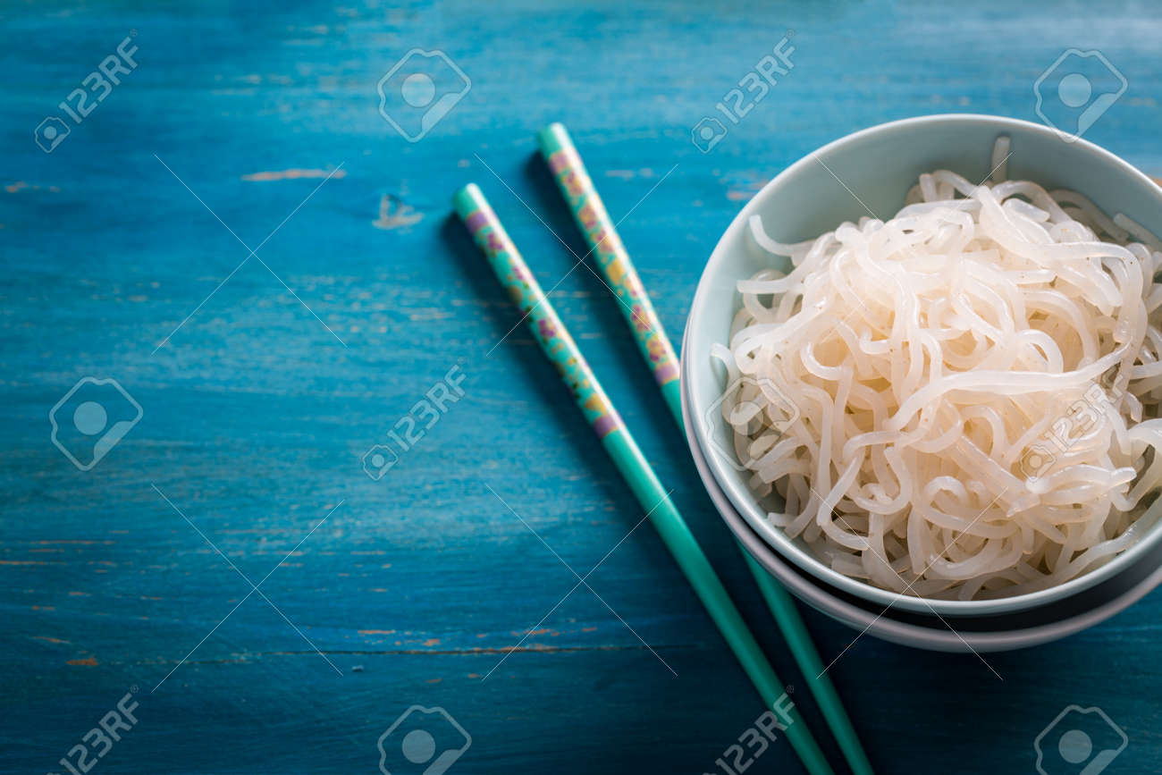 Japanese food - Shirataki noodles (Konjac) - 95724133