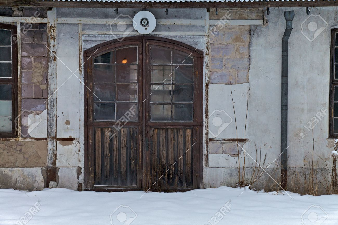 Doors of old factory building in the snow Stock Photo - 5290255 & Doors Of Old Factory Building In The Snow Stock Photo Picture And ...