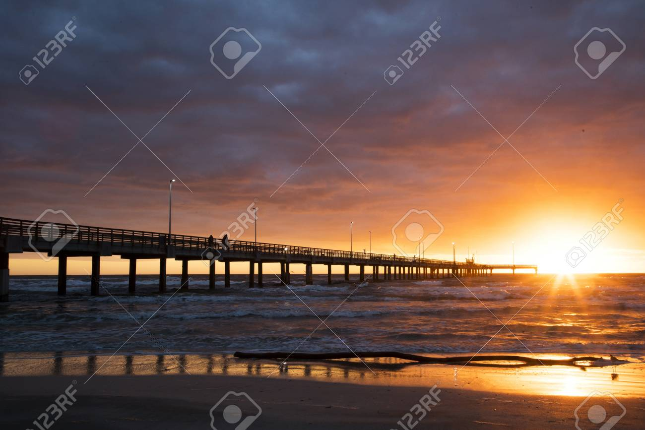 Bob Hall Pier on Padre Island near Corpus Christi, Texas