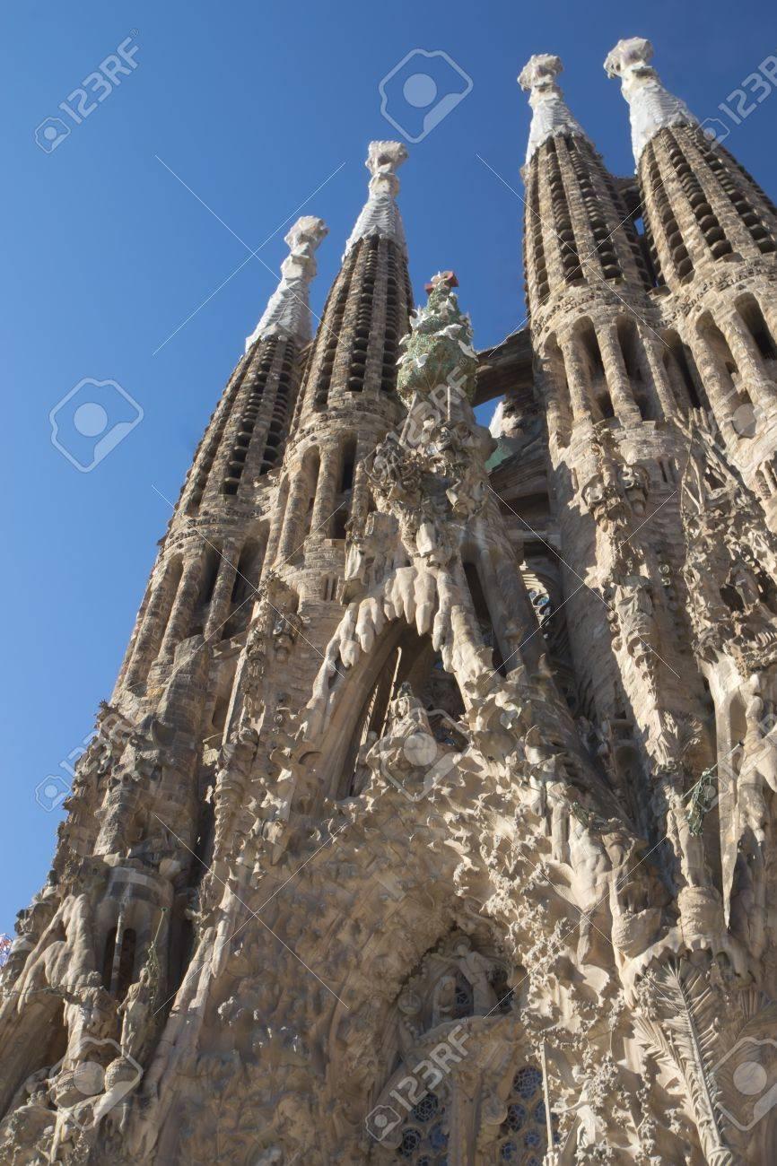 Sagrada Familia in Barcelona Catalunya, Spain Vertically - 19478606