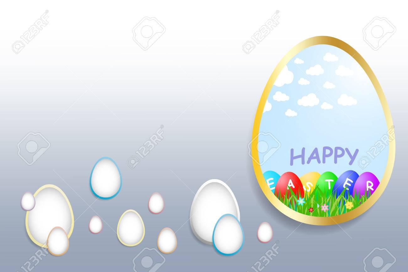 Huevo Grande Con Borde De Oro Incluye Temática Imagen Feliz Pascua ...