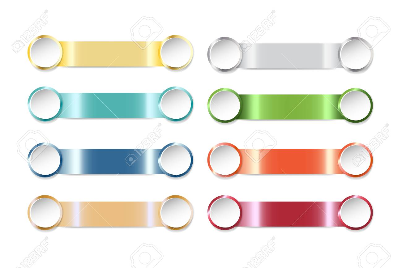 modern infographic template as a colorful steel strips with blank