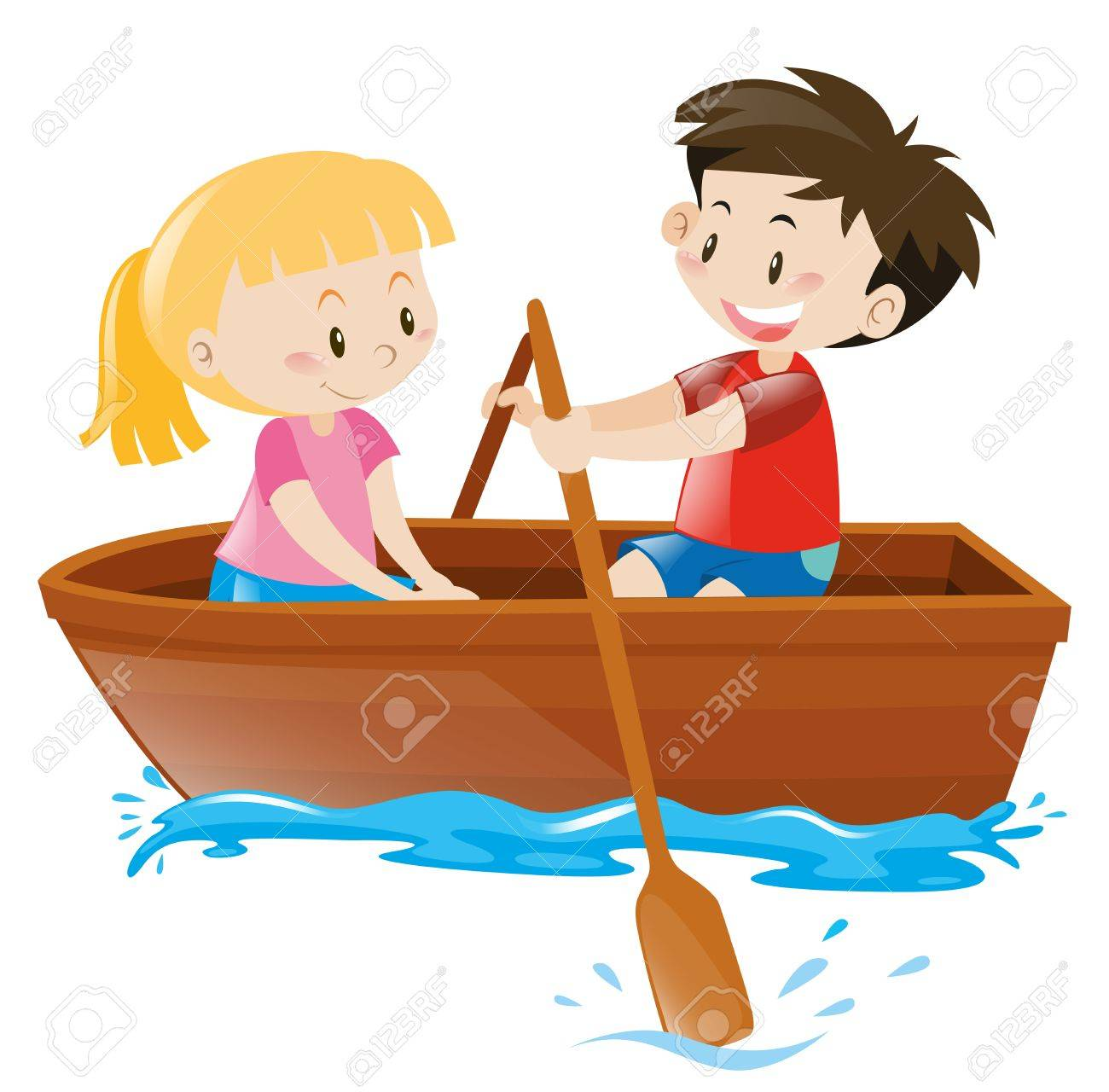Well known Boy And Girl In Rowboat Illustration Royalty Free Cliparts  AJ79