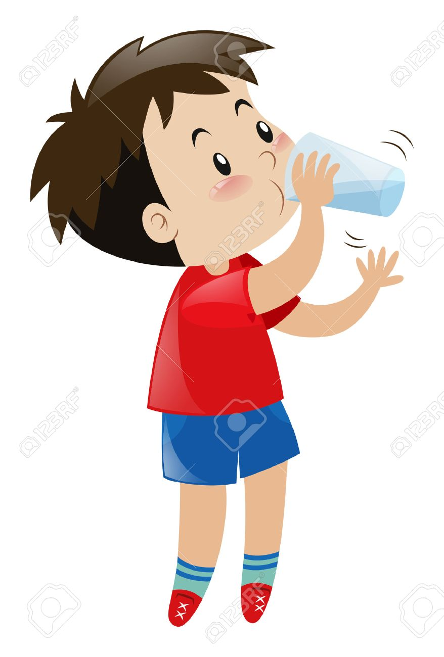 boy drinking water from glass illustration royalty free cliparts rh 123rf com drinking water clipart black and white drinking water clipart free