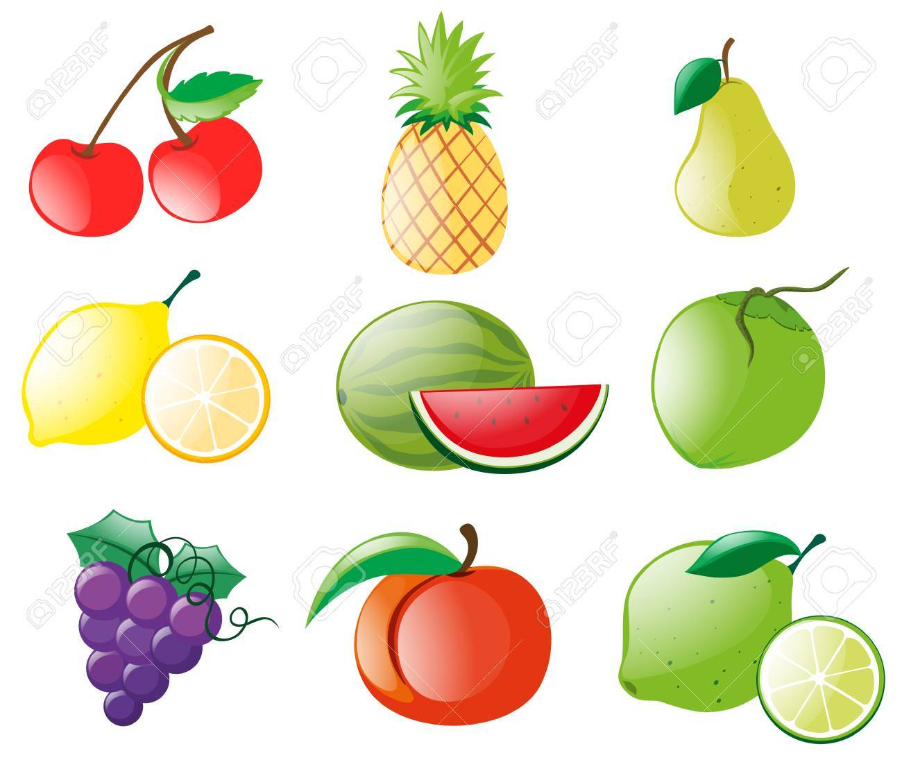 different types of fruits illustration royalty free cliparts rh 123rf com fruit vector background free fruit vectors ai