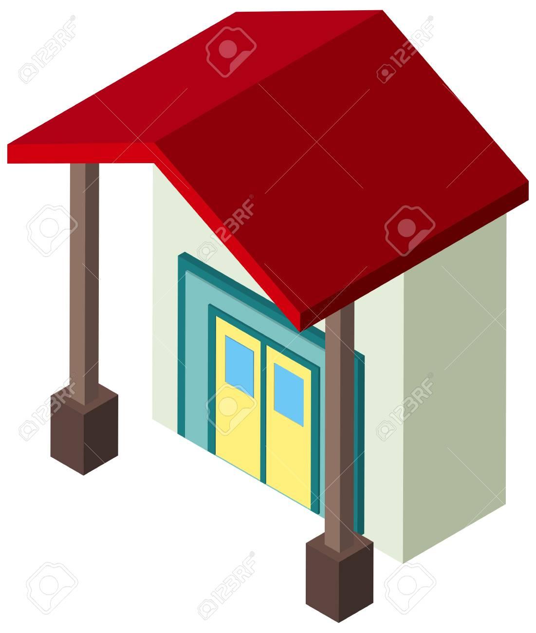3D-Design Für Dünne Haus Illustration Lizenzfrei Nutzbare ...