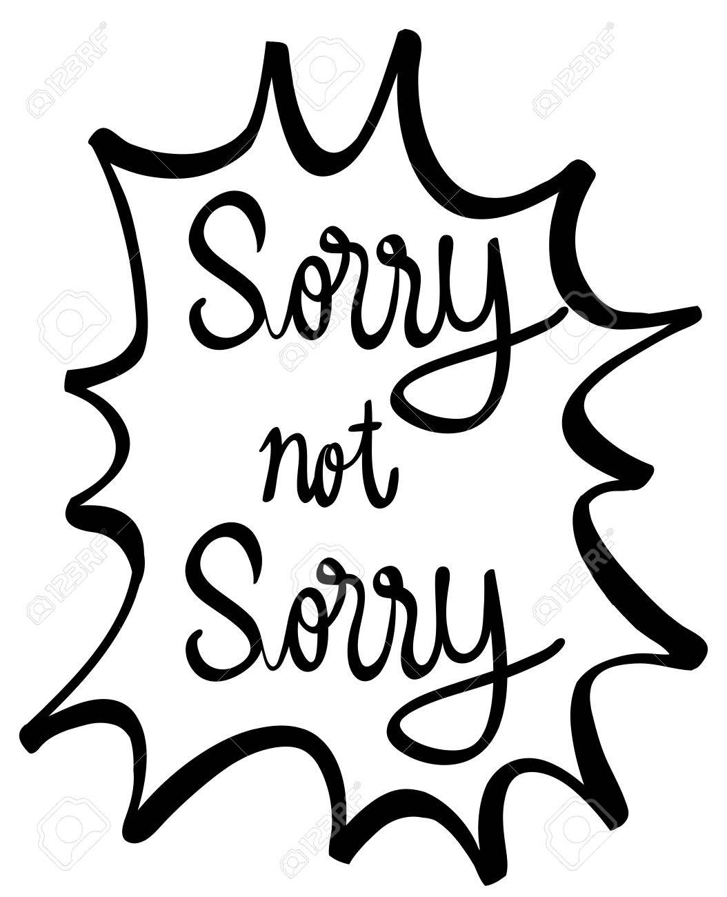 word expression for sorry and not sorry illustration royalty free rh 123rf com sorry clipart animated clipart sorry for your loss