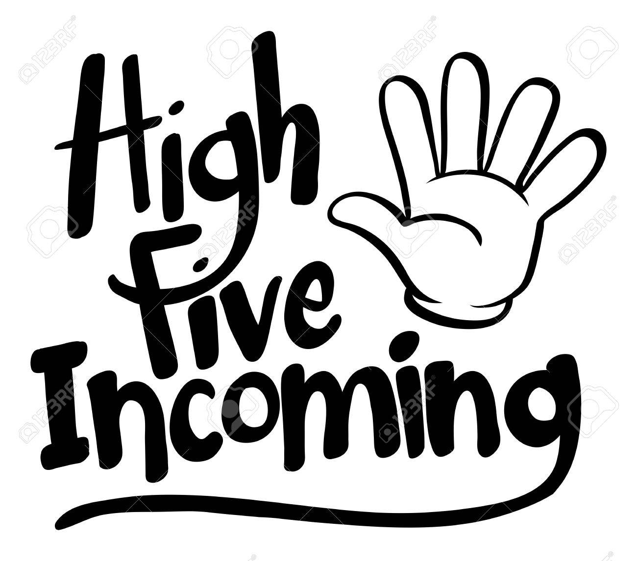 word expression for high five incoming illustration royalty free rh 123rf com high five clipart black and white high five hand clipart