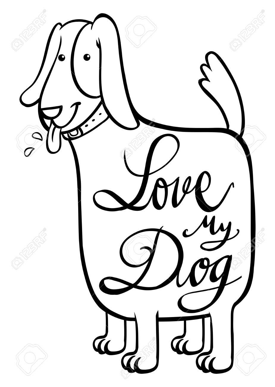 Frase En Inglés Para El Amor Mi Perro Ilustración