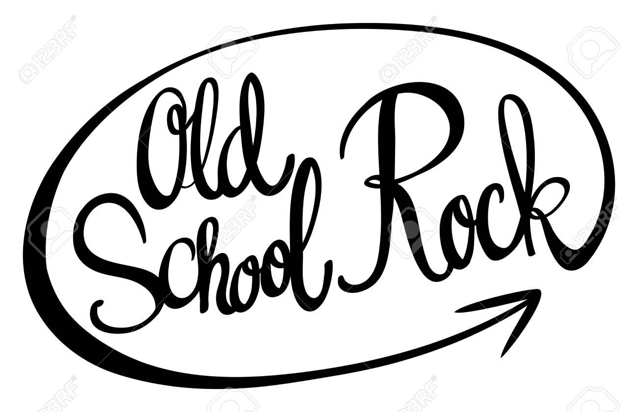 Frase En Inglés Para Ilustración De Rock De La Vieja Escuela