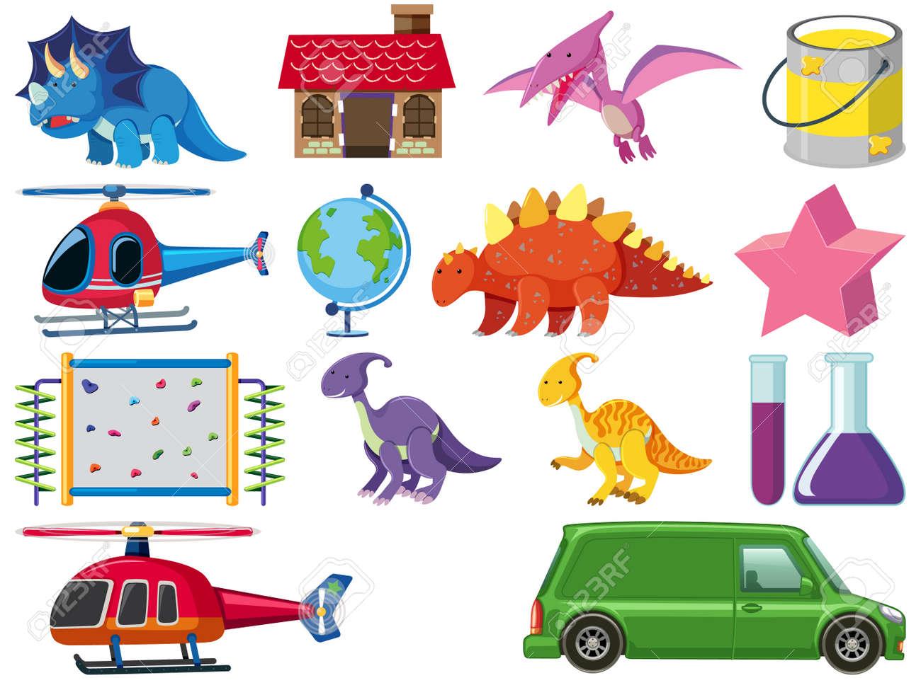 Set of children toys illustration - 159933876