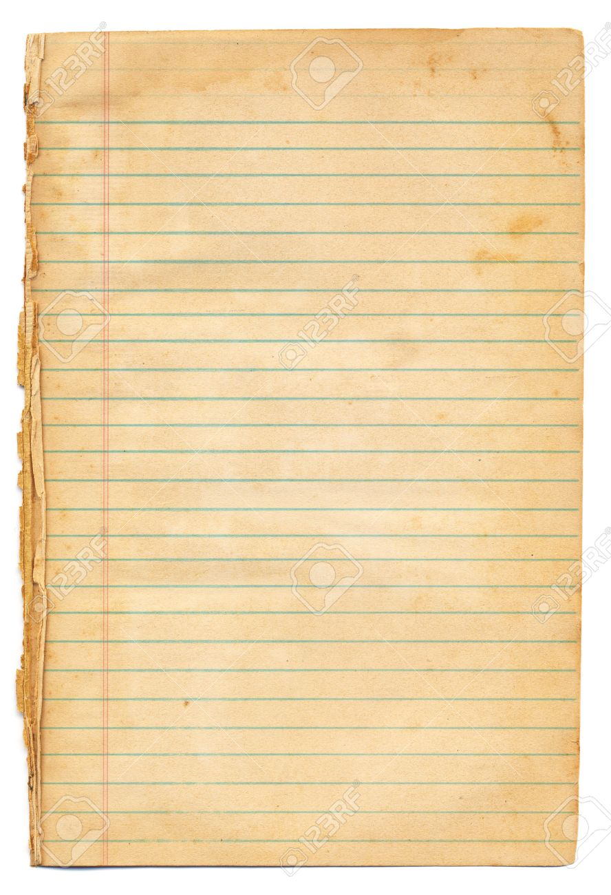 Vintage Lined Notebook Paper Photo Picture And Royalty Free – Yellow Notebook Paper Background