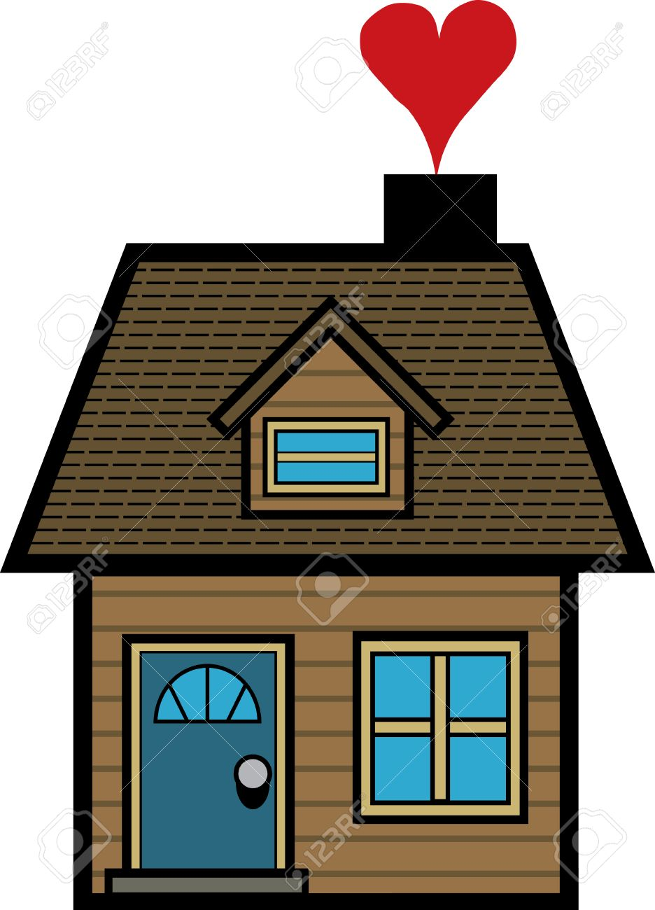Simple Cartoon House Royalty Free Cliparts Vectors And Stock Illustration Image 6405346