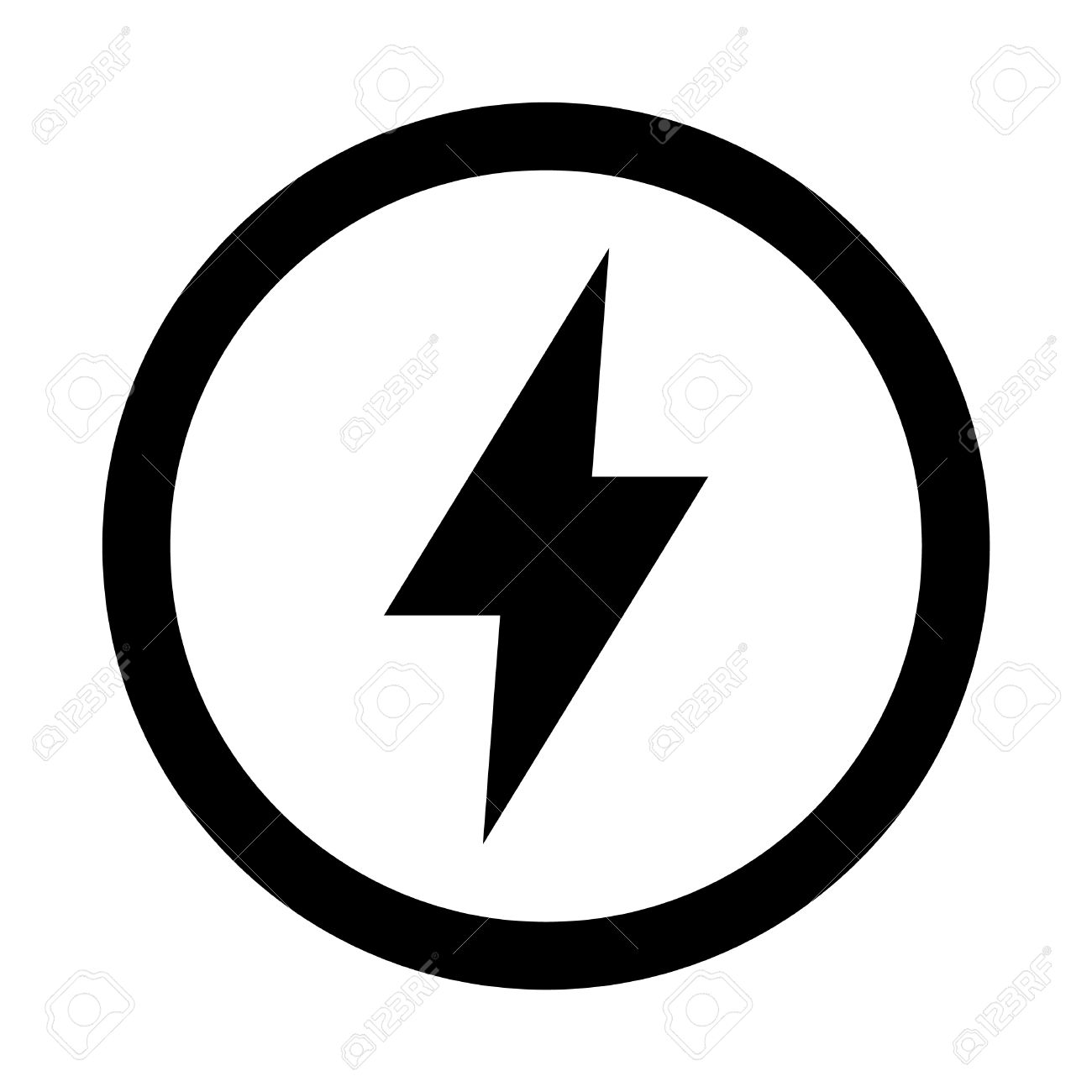 Lightning Bolt Vector Icon Royalty Free Cliparts, Vectors, And ... for Vector Lighting Bolt  183qdu