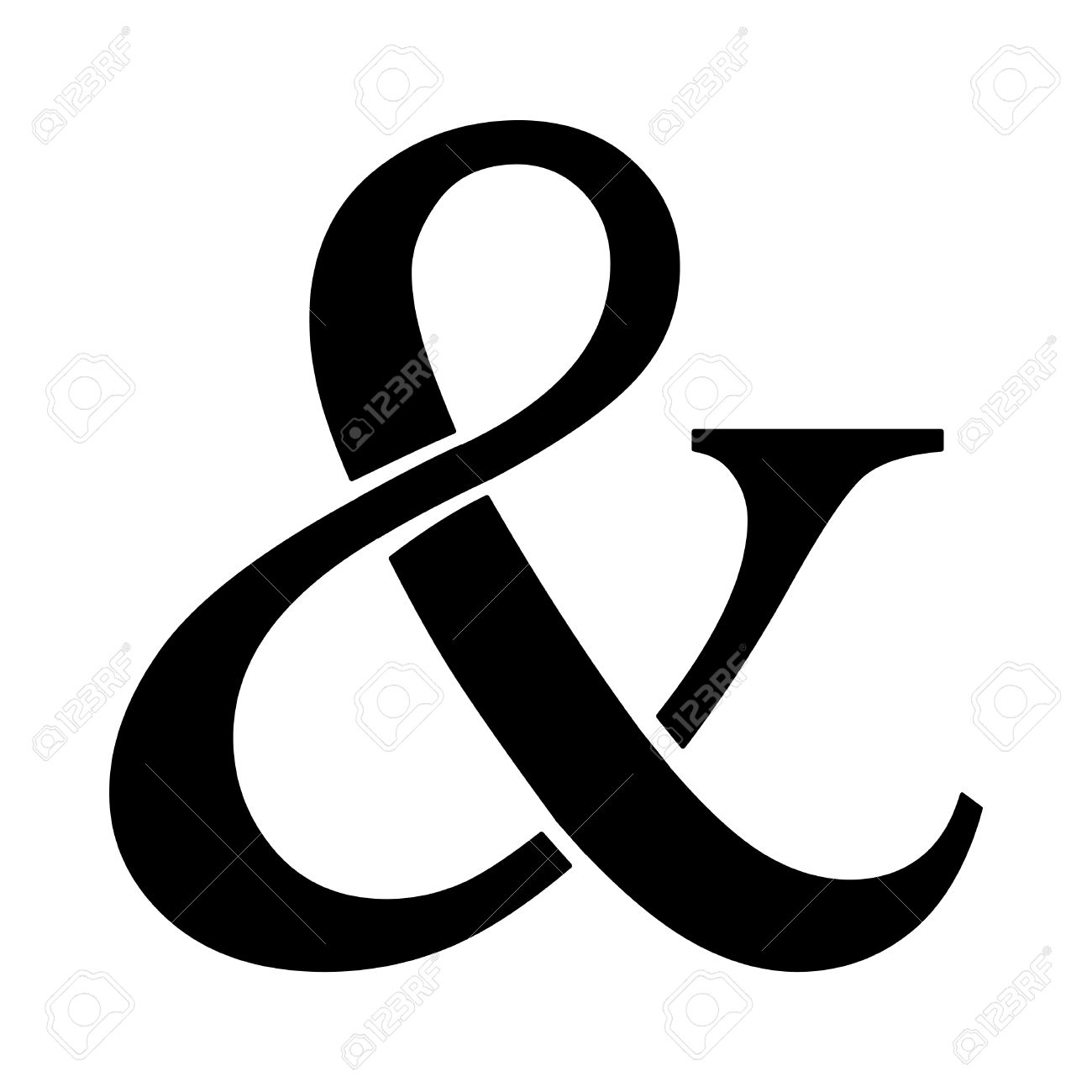 ampersand vector icon royalty free cliparts vectors and stock