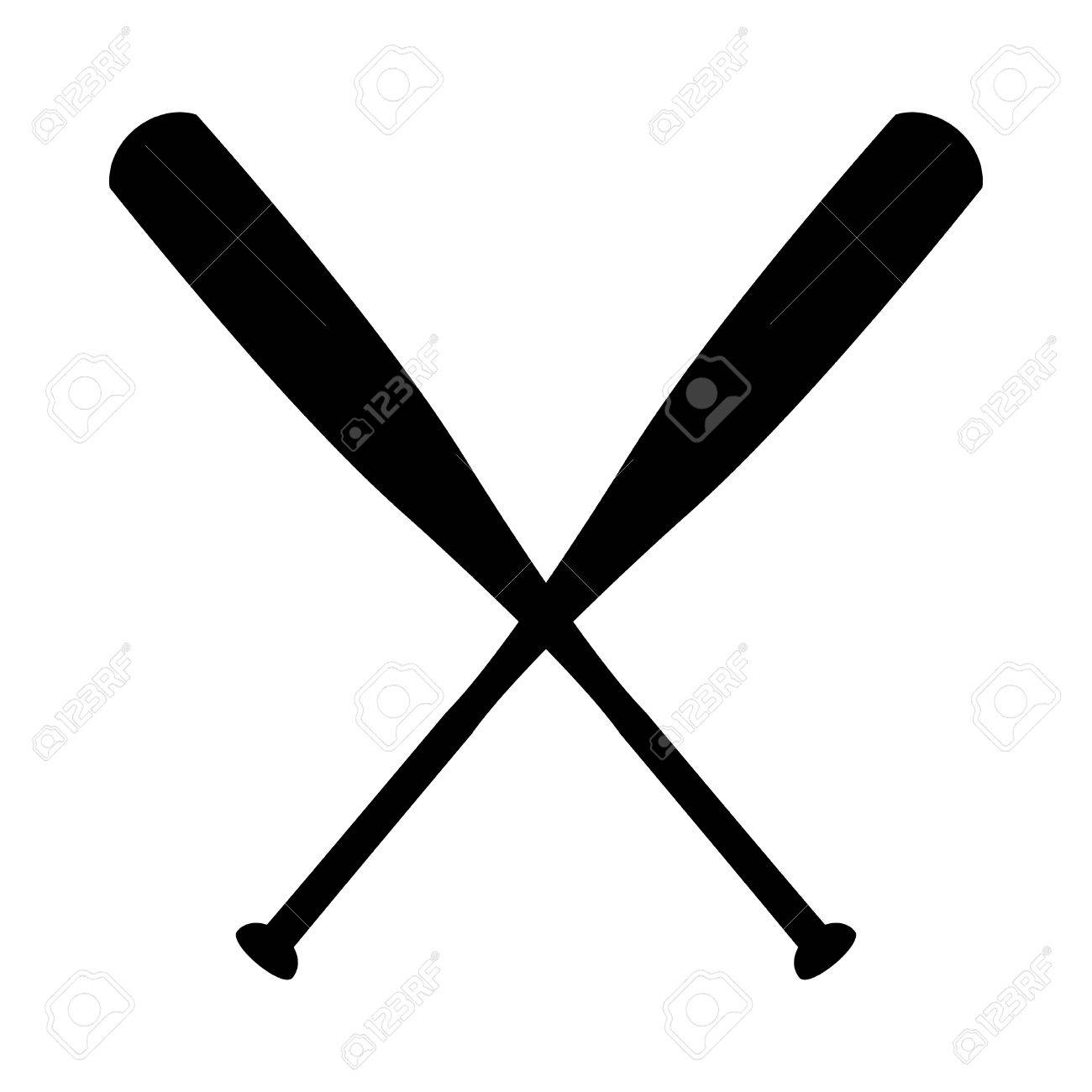 baseball bat vector icon royalty free cliparts vectors and stock rh 123rf com baseball bat vector art free baseball bat vector art free
