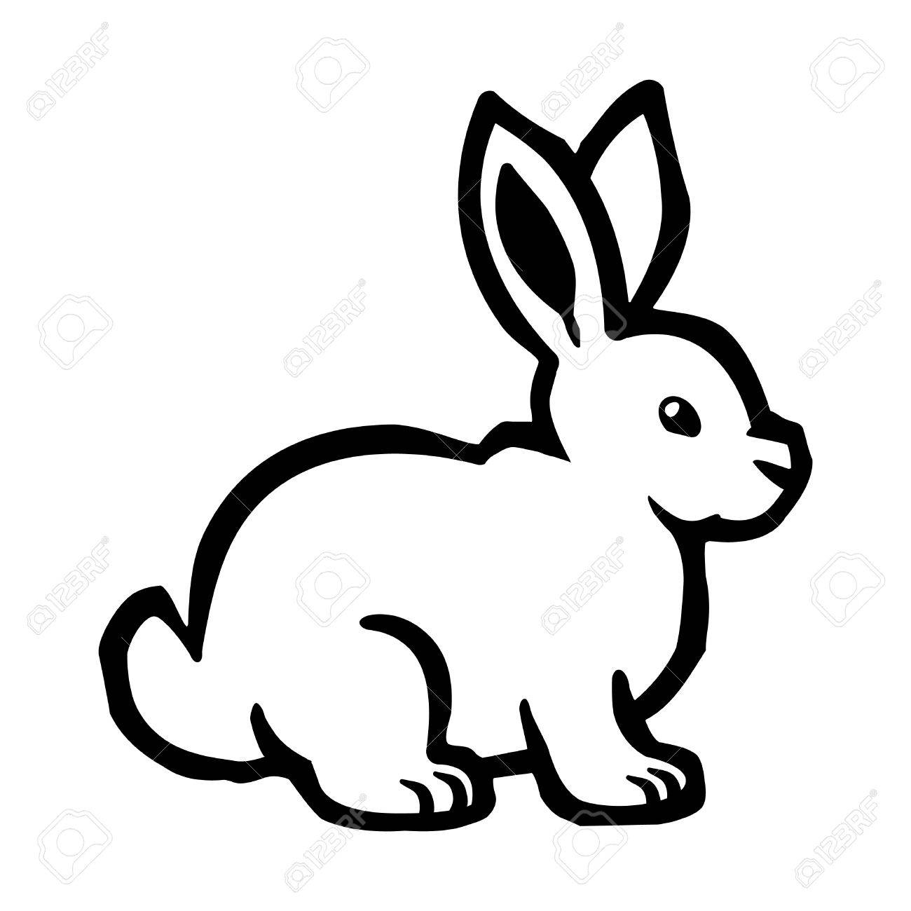 cartoon bunny rabbit vector royalty free cliparts vectors and rh 123rf com rabbit vector silhouette rabbit vector disease