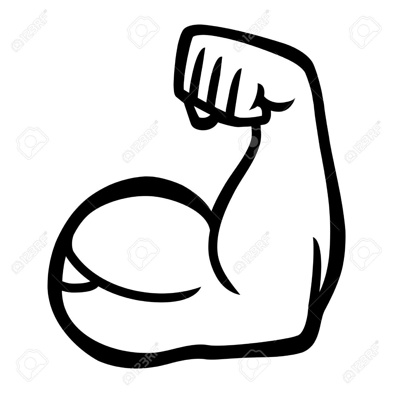 Biceps Flex Arm Vector Icon Stock Vector