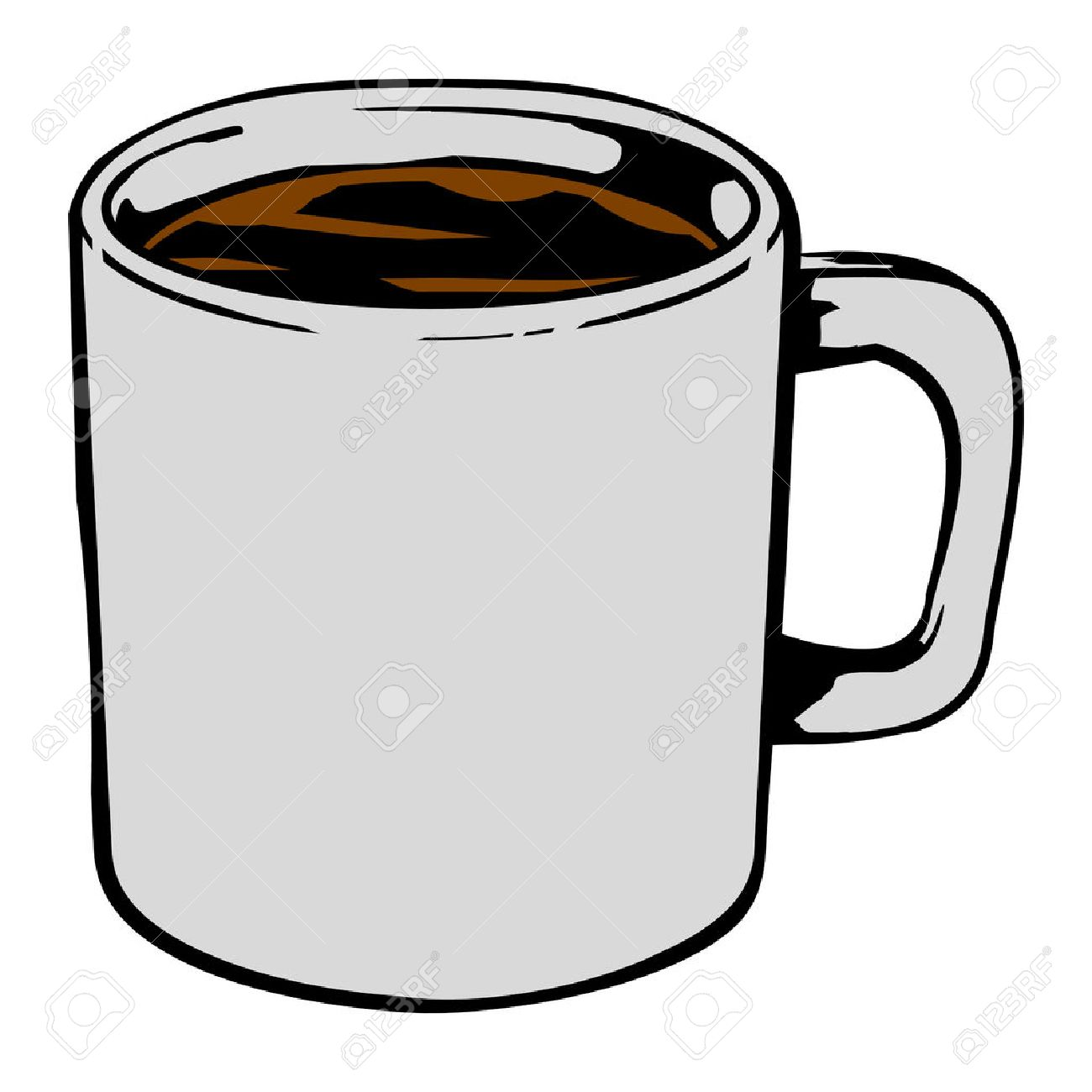 coffee mug vector icon royalty free cliparts vectors and stock rh 123rf com coffee cup vector art coffee cup vector black and white