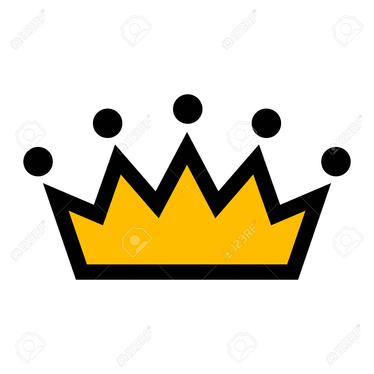 crown vector icon royalty free cliparts vectors and stock rh 123rf com crown vector outline crown vector art