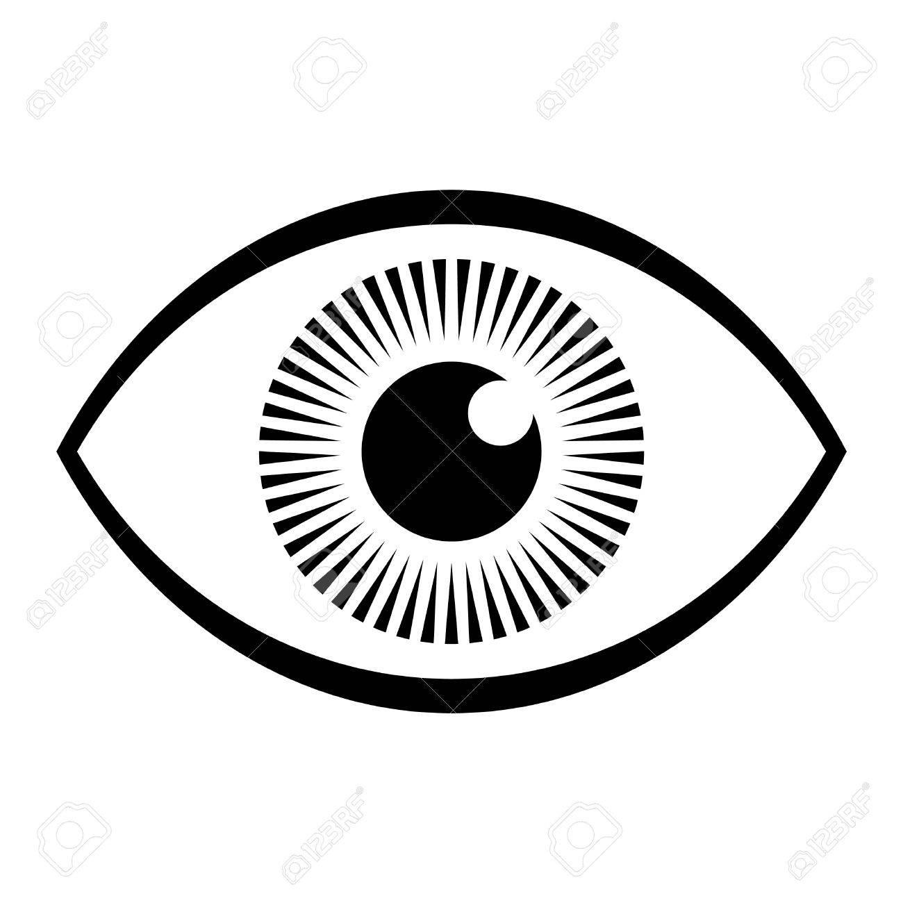 eye vector icon royalty free cliparts vectors and stock rh 123rf com vector eyeball inkscape eyeball vector art