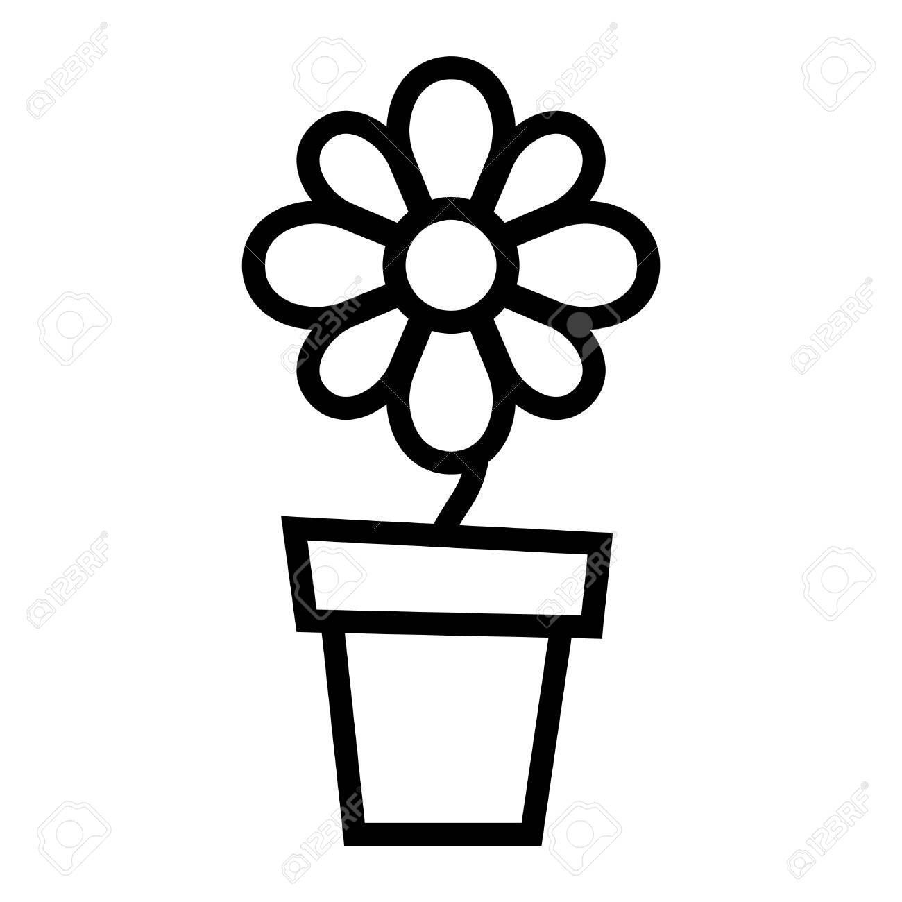 Clipart flower pot black and white all about clipart clipart flower pot black and white fleur vecteur pot ic ne clip art libres de droits vecteurs et mightylinksfo