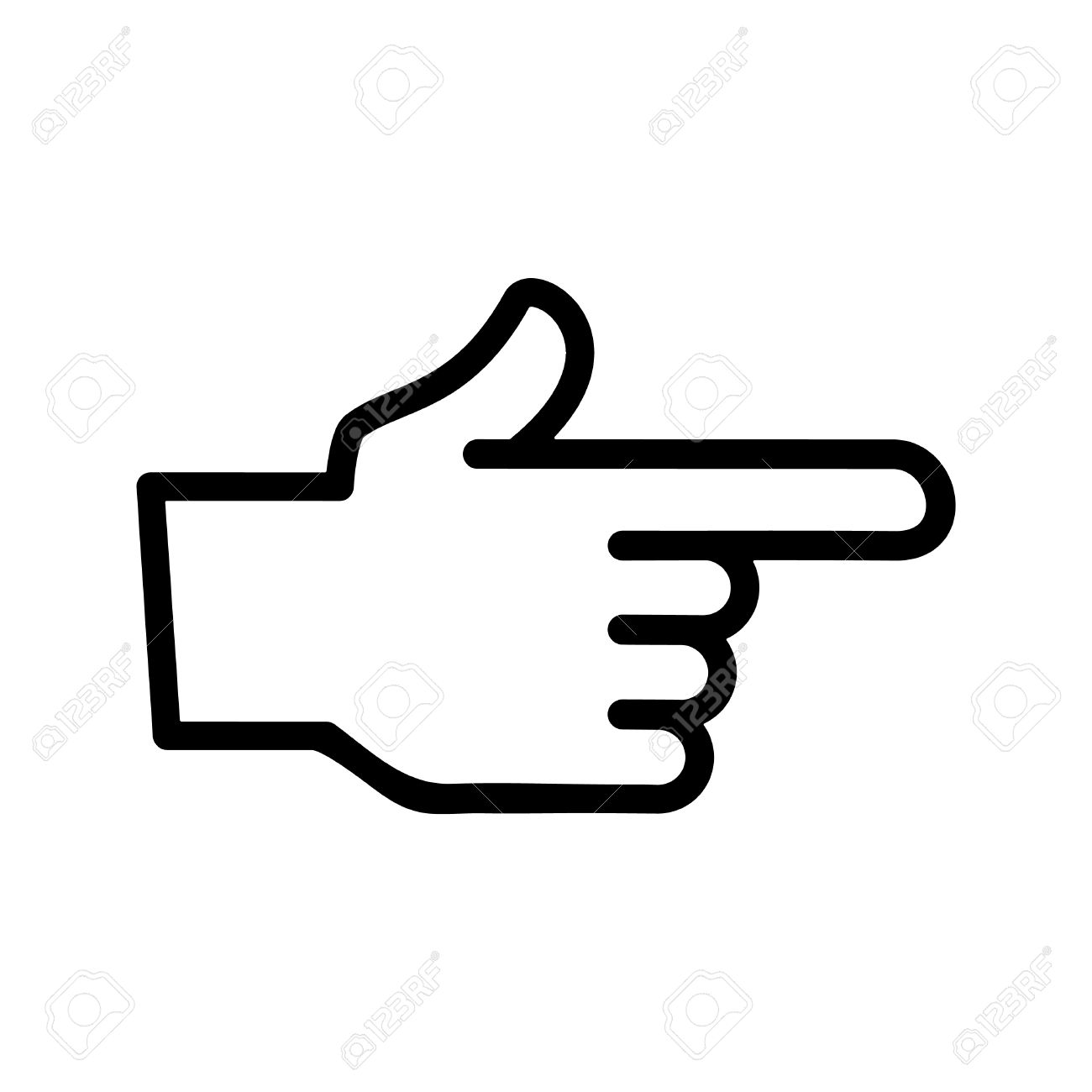 finger point vector icon royalty free cliparts vectors and stock rh 123rf com pointing finger vector free pointing finger vector image
