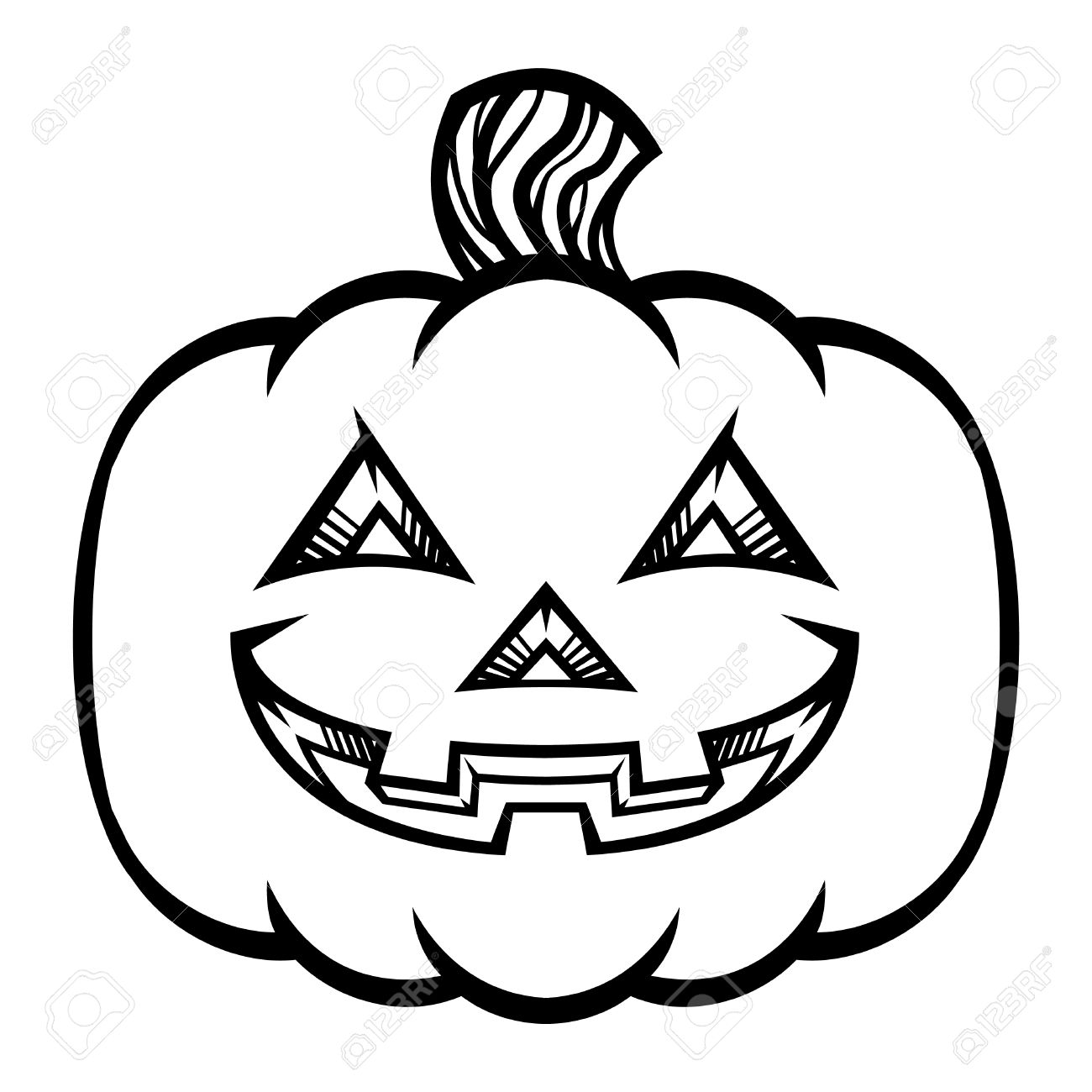 jack o lantern pumpkin vector icon royalty free cliparts vectors rh 123rf com Pumpkin Vector Black black and white vector pumpkin