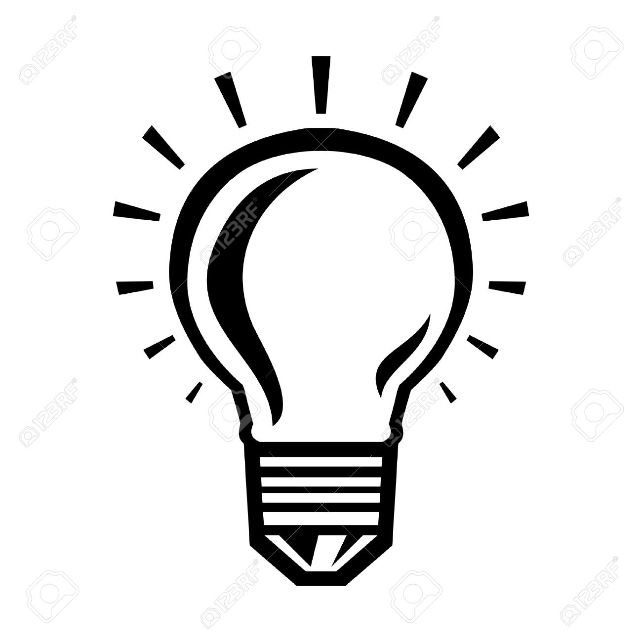 Lightbulb Vector Icon Stock