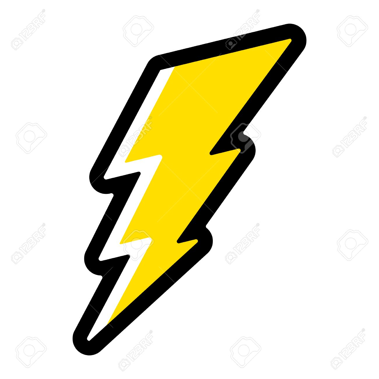lightning bolt vector icon royalty free cliparts vectors and stock