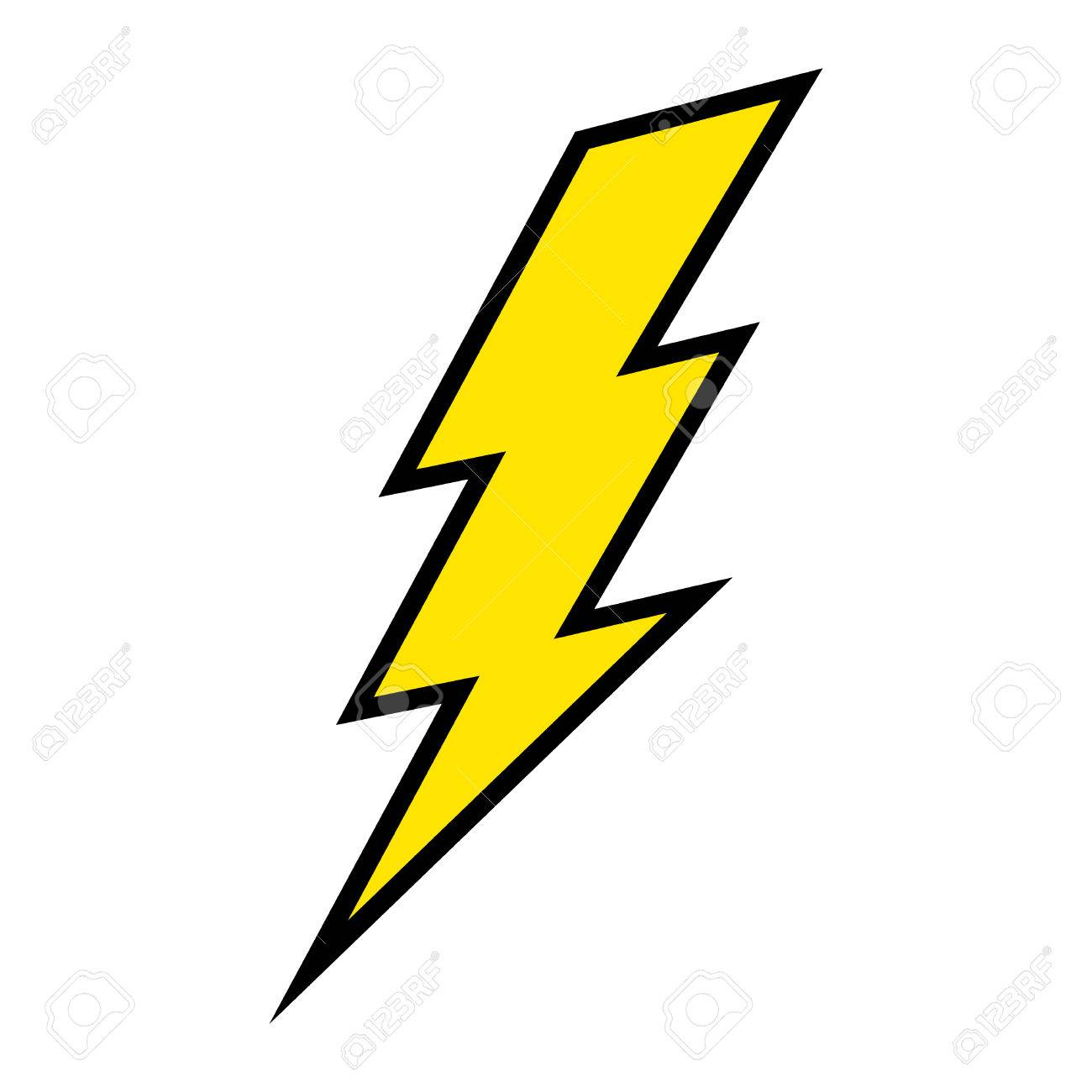 Lightning Bolt Vector Icon Royalty Free Cliparts, Vectors, And ... for Vector Lighting Bolt  76uhy