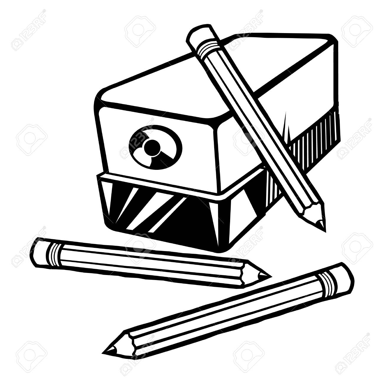 pencil sharpener vector icon royalty free cliparts, vectors, and