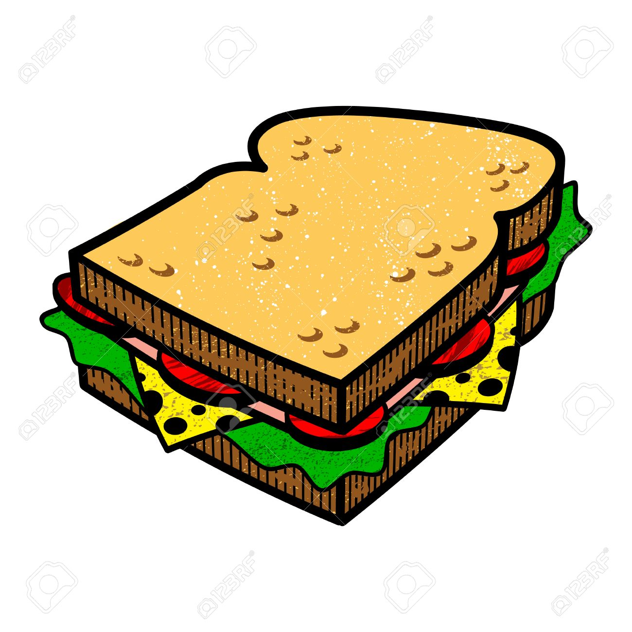 sandwich cartoon vector illlustration royalty free cliparts vectors and stock illustration image 49671214 sandwich cartoon vector illlustration