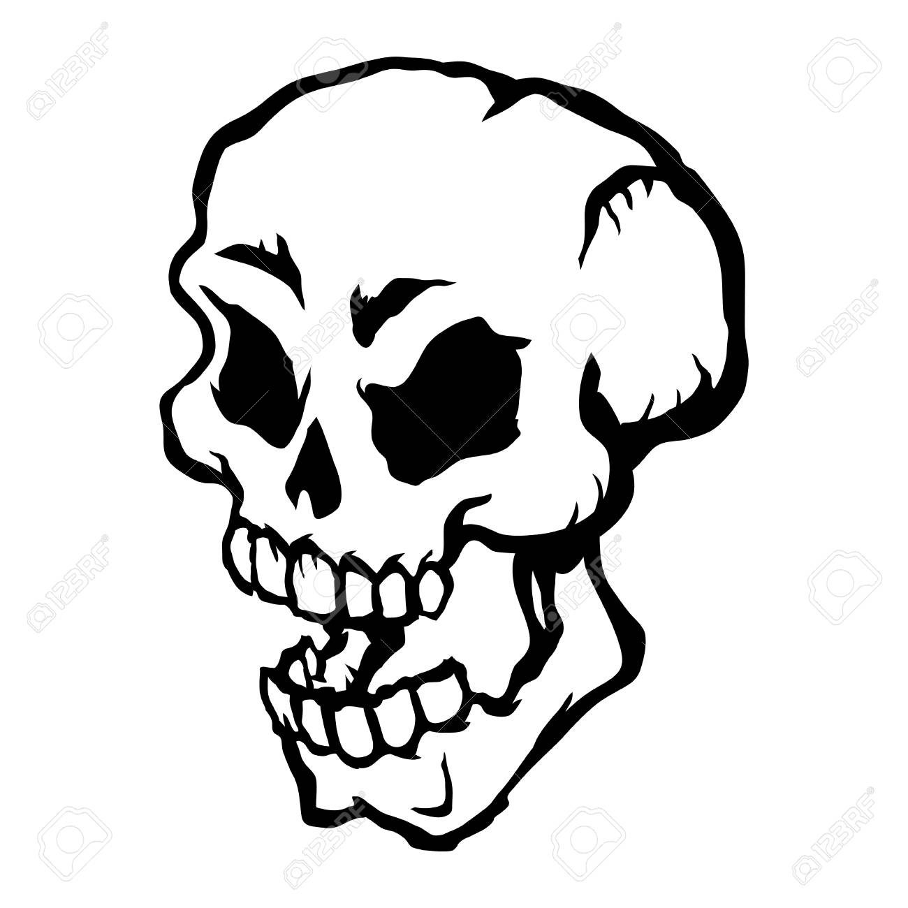 skull vector icon royalty free cliparts vectors and stock rh 123rf com free skull vector art skull vector free for commercial use