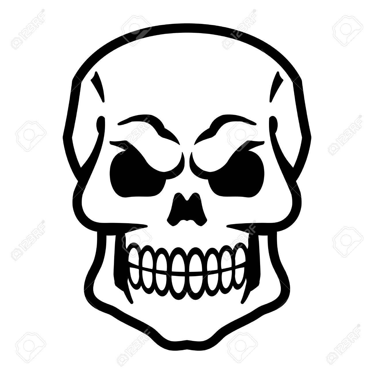 skull vector icon royalty free cliparts vectors and stock rh 123rf com vector skull free vector skull bones
