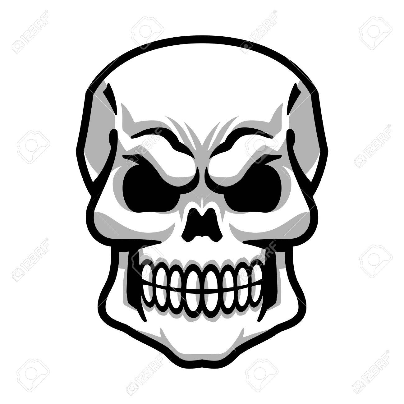skull vector icon royalty free cliparts vectors and stock rh 123rf com free skull vector art free skull vector art