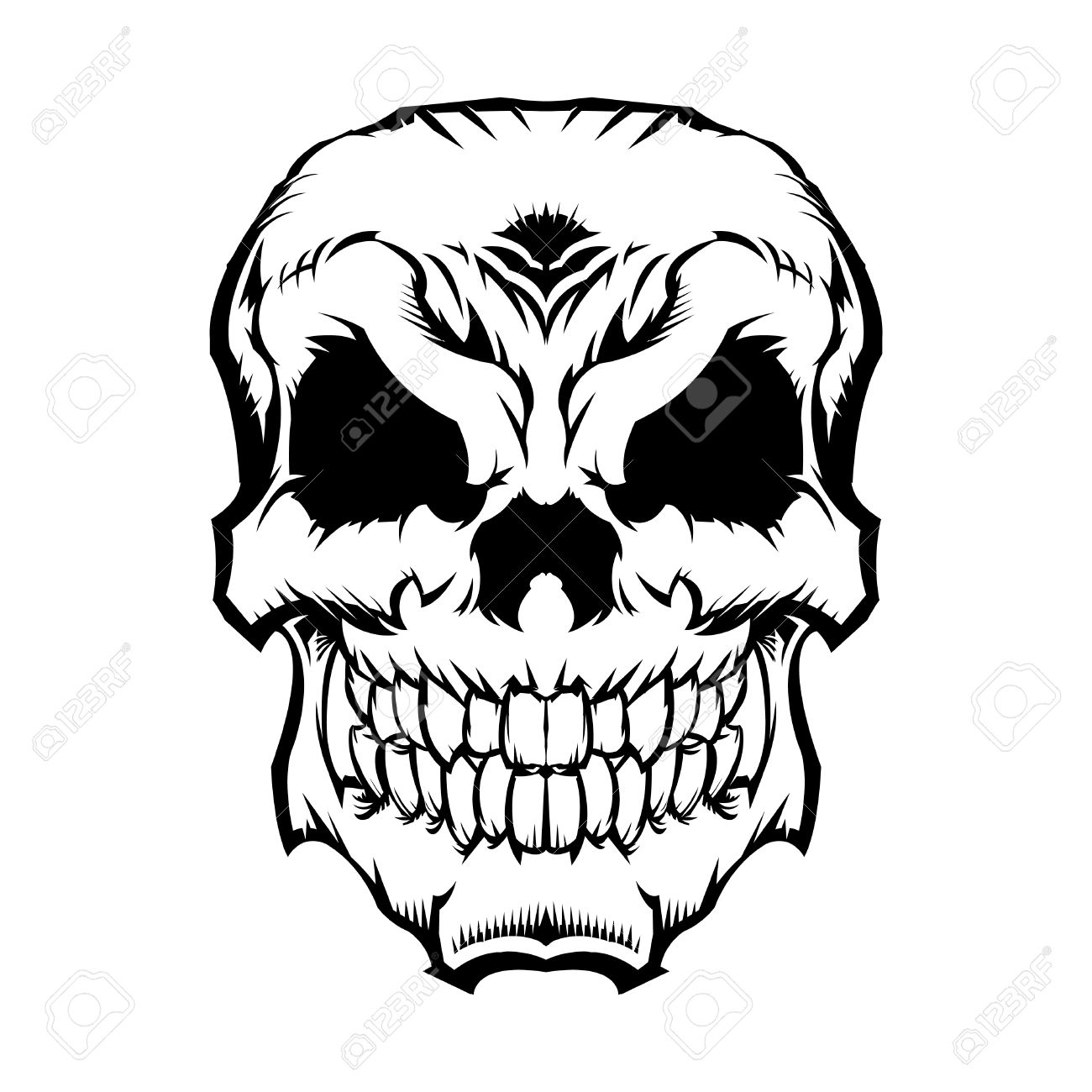 skull vector icon royalty free cliparts vectors and stock rh 123rf com vector skull images free download skull vector