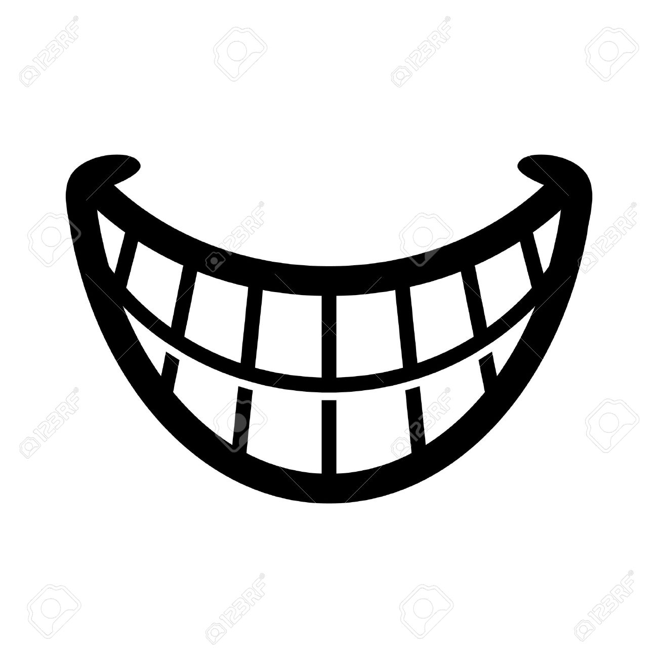 Big Cartoon Smile Vector Stock Vector