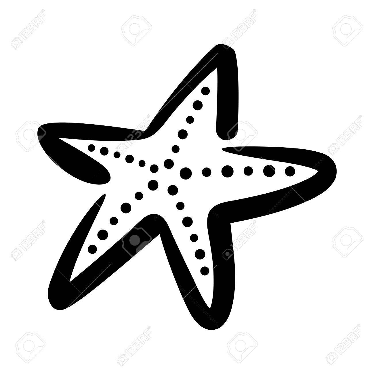 starfish vector icon royalty free cliparts vectors and stock rh 123rf com starfish silhouette vector starfish vector free download