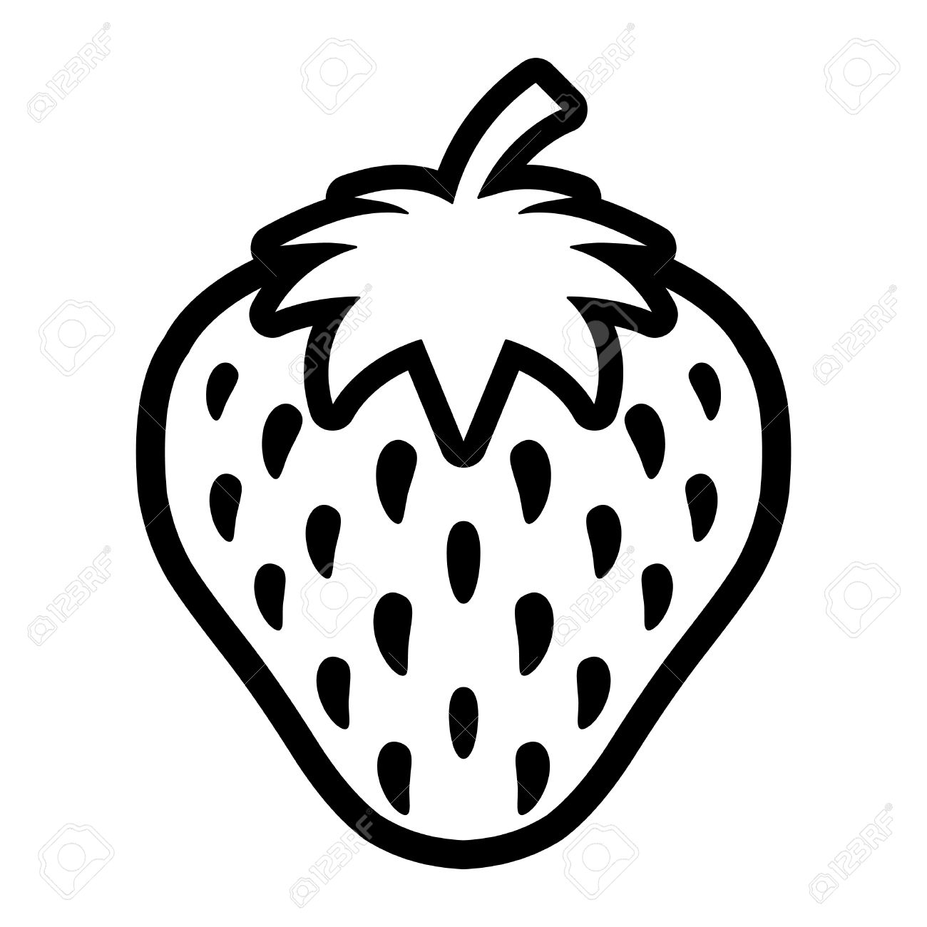 Strawberry Vector Icon Royalty Free Cliparts, Vectors, And Stock ... for Clipart Strawberry Black And White  5lpkxo