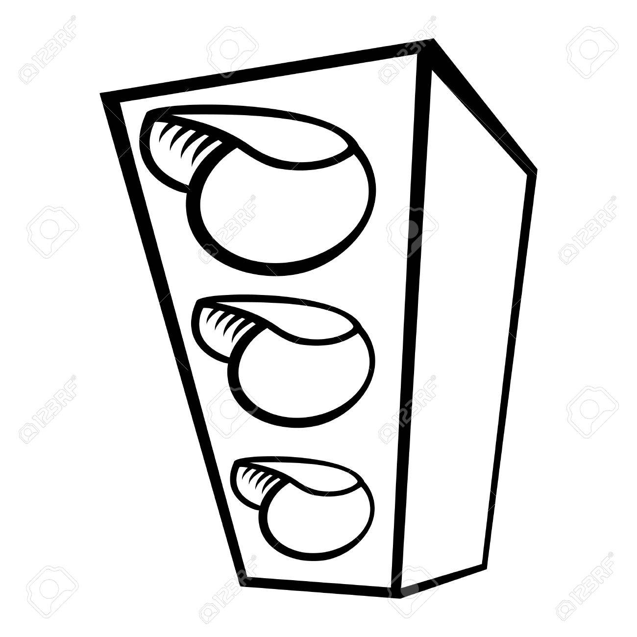 Traffic Light Royalty Free Cliparts, Vectors, And Stock Illustration ... for stop light black and white  45hul