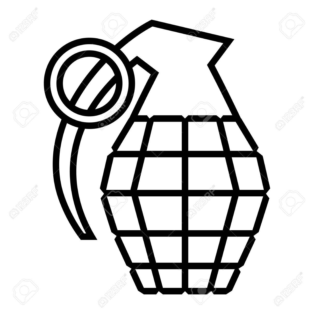 hand grenade vector illustration royalty free cliparts vectors and rh 123rf com Hand Grenade Clip Art Pineapple Grenade Vector