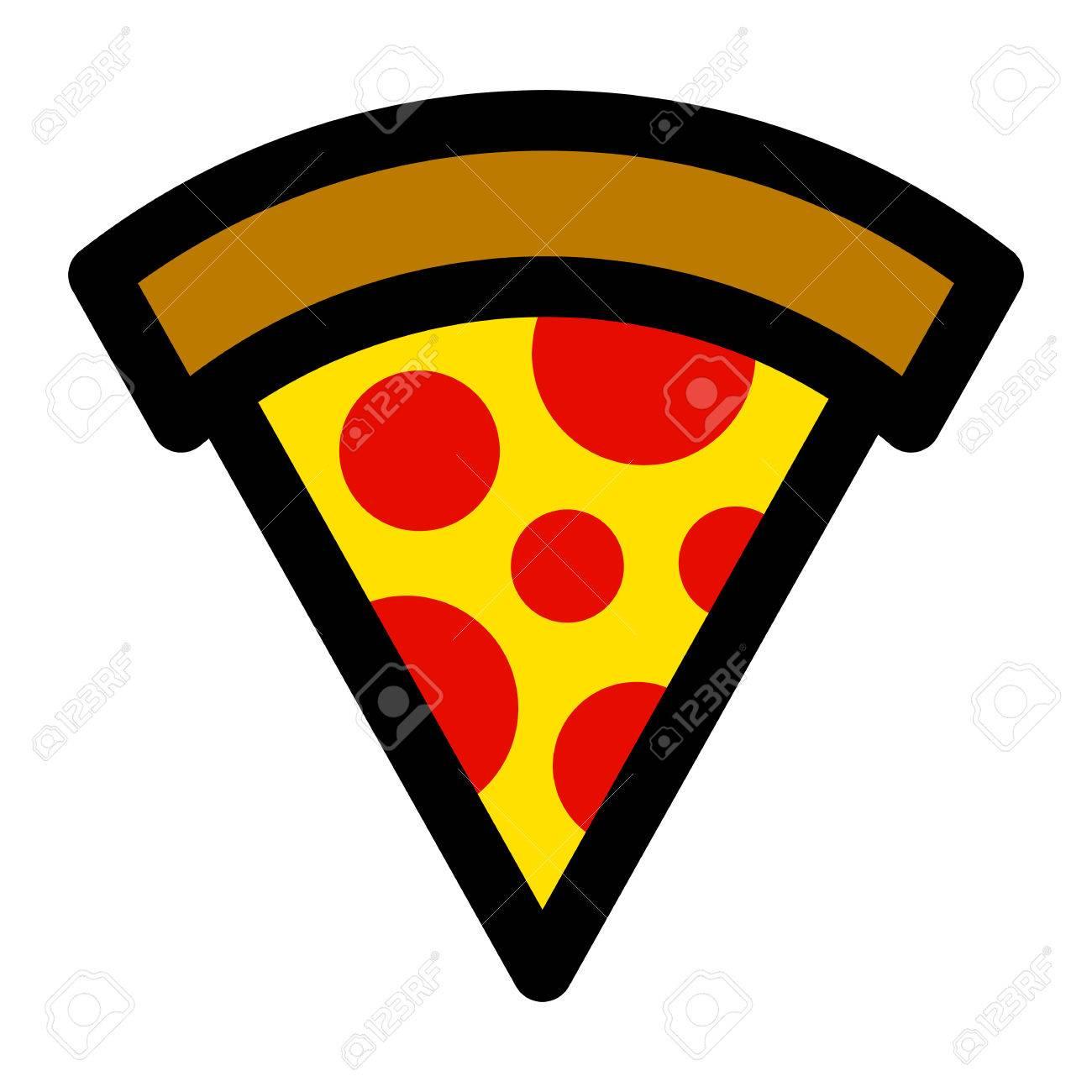 pizza slice vector icon royalty free cliparts vectors and stock rh 123rf com pizza slice vector outline pizza slice vector outline