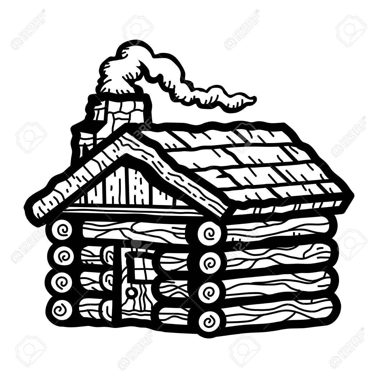 Log Cabin Stock Vector