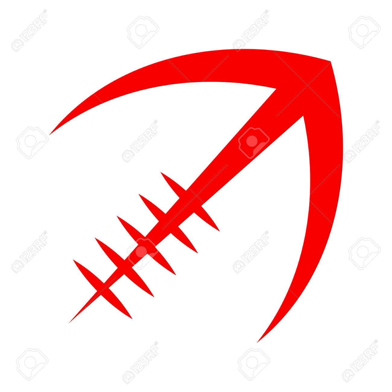 Stylized American Football logo vector icon - 62039958