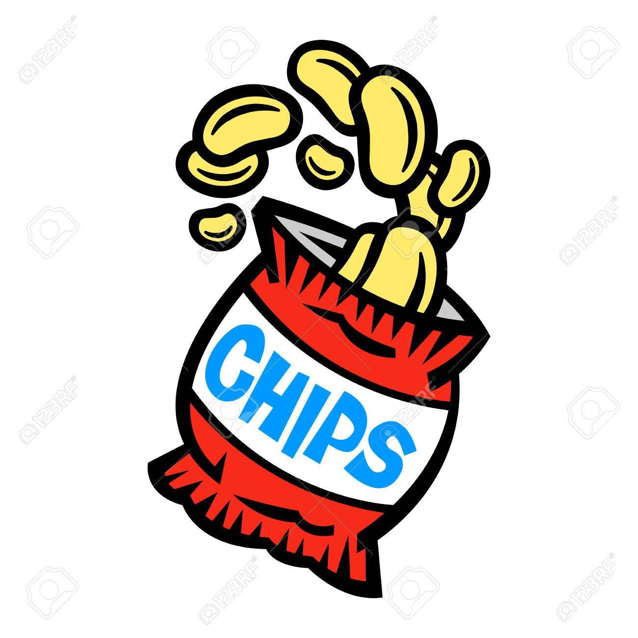 bag of potato chips royalty free cliparts vectors and stock rh 123rf com potato chip bag clip art lays potato chips clip art