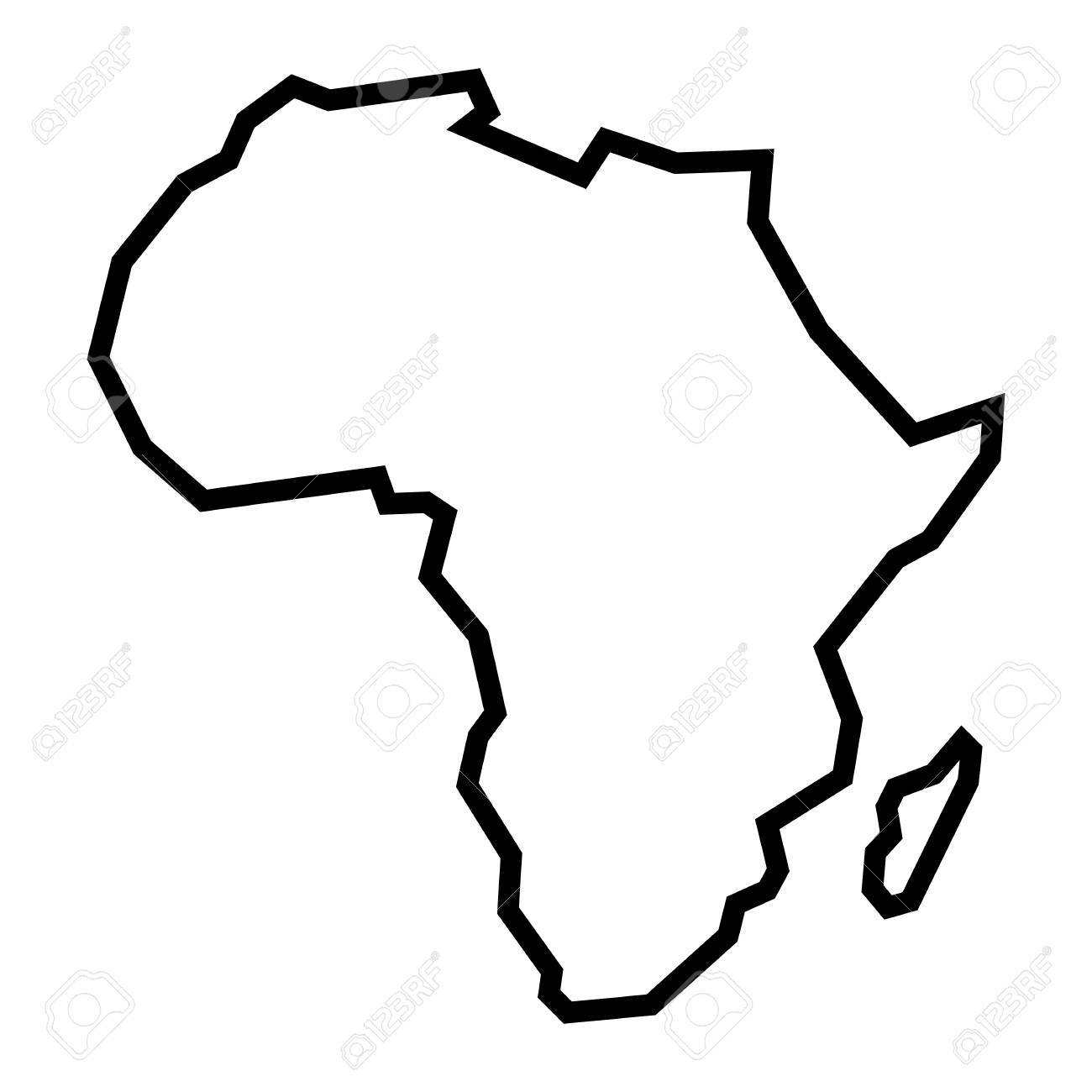 Detailed Map of Africa Continent - 66436196