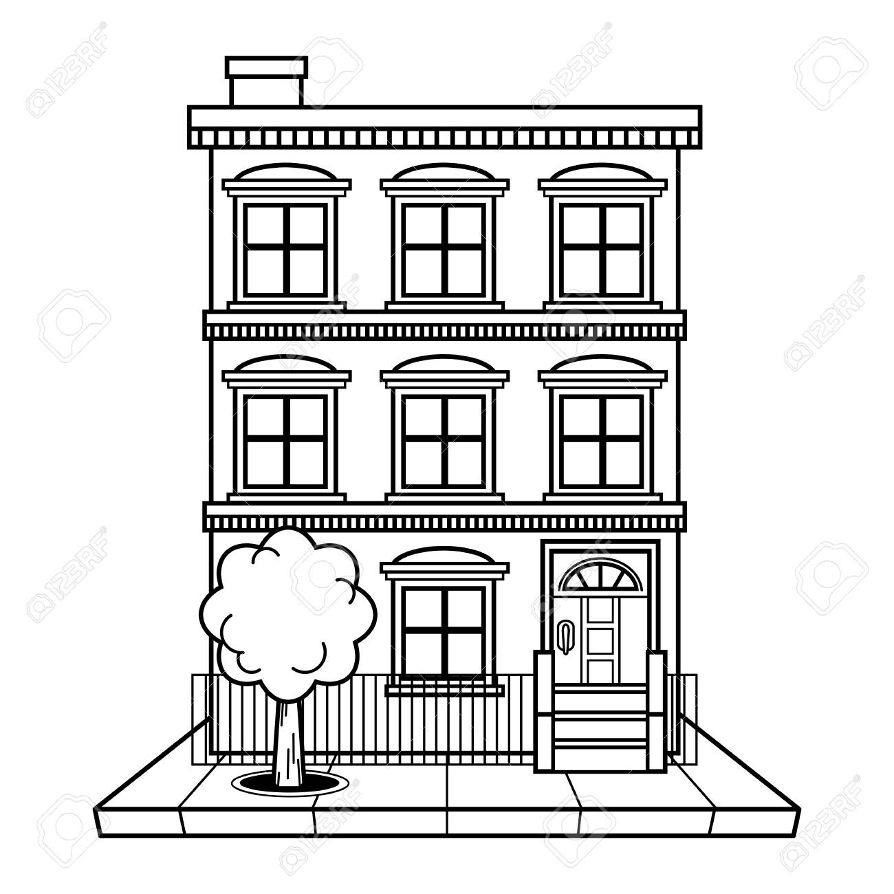 1074 apartment building clip art free   Public domain vectors