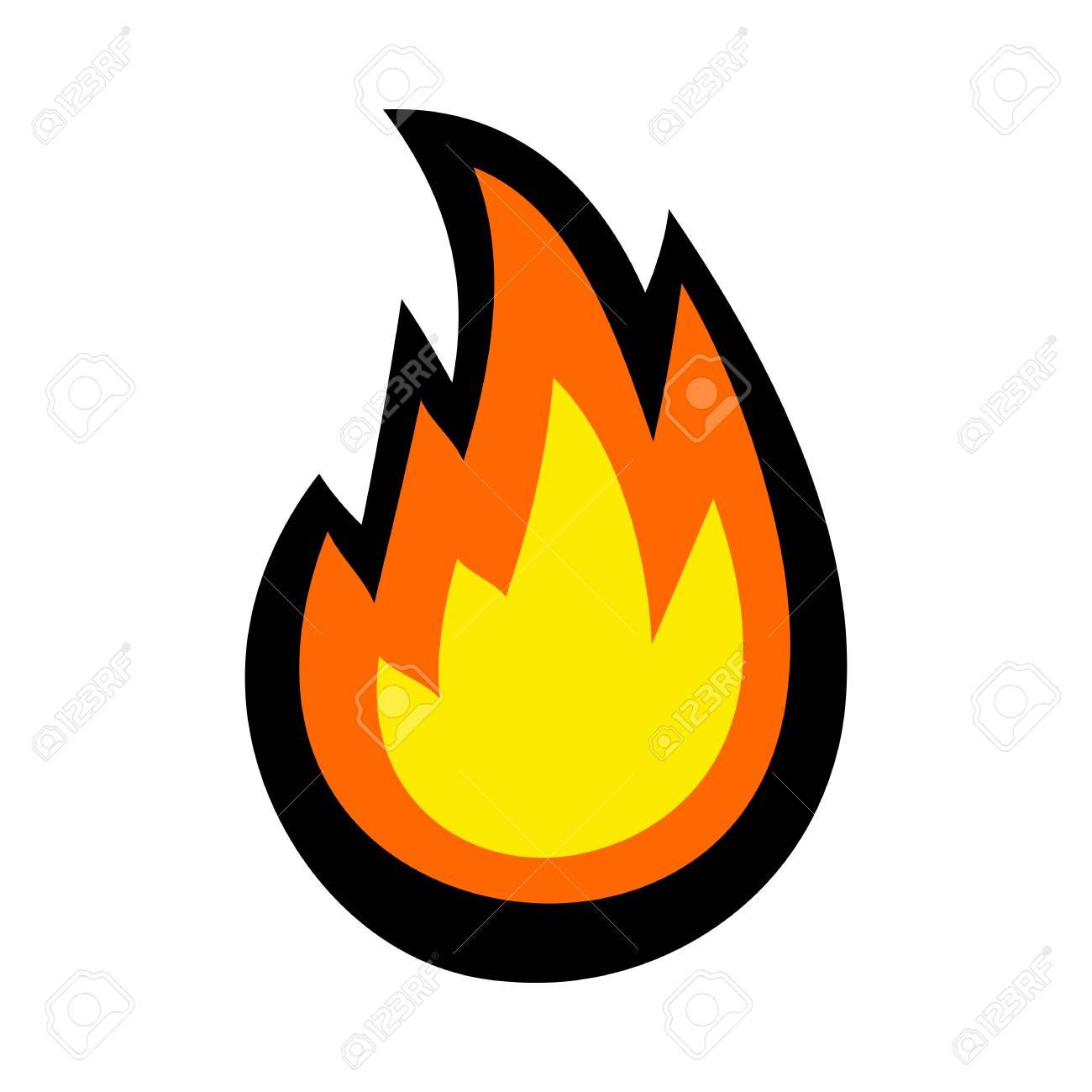 Hot Flame Fireball vector cartoon - 120352893