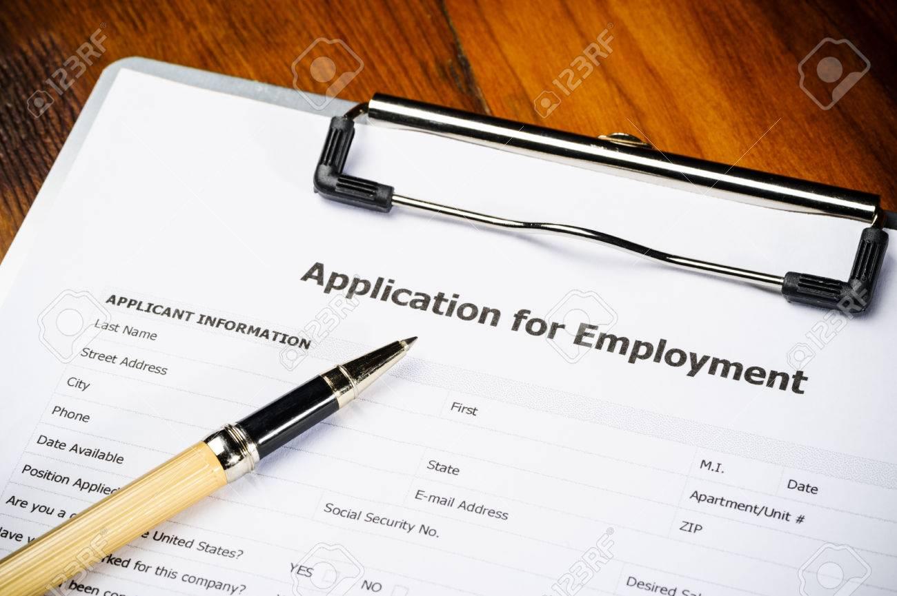 a job application on a clipboard stock photo picture and royalty stock photo a job application on a clipboard